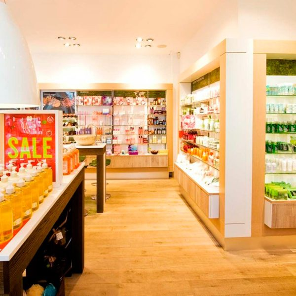 Enstavsgulv hos The Body Shop